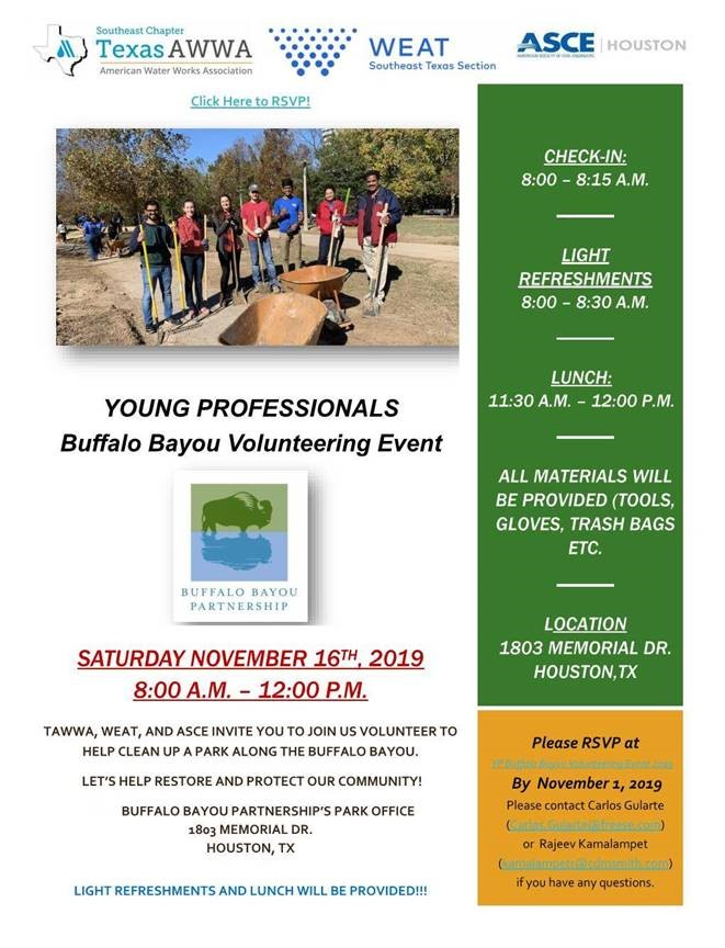 Buffalo Bayou Volunteering Event 2019