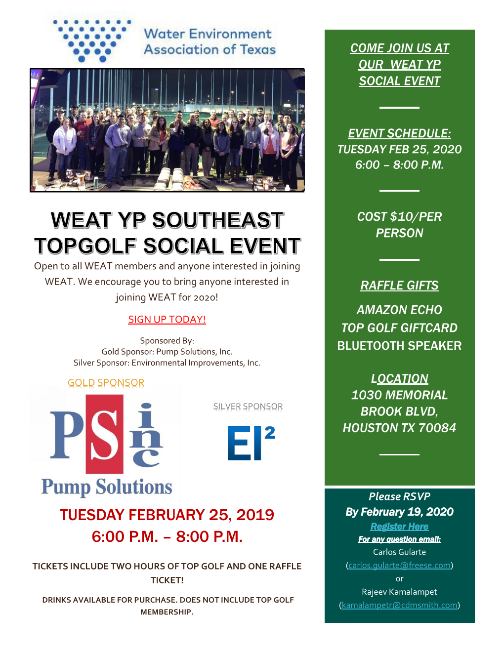 WEAT Southeast – 2020 TopGolf Event