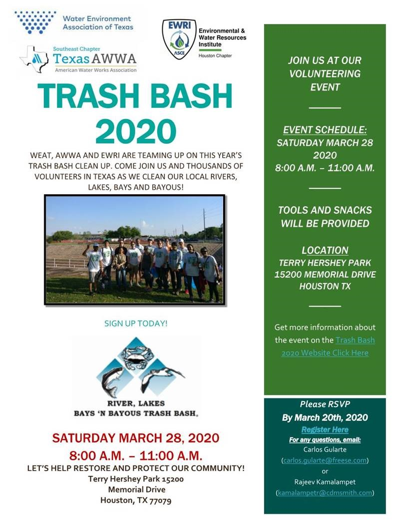 WEAT Trash Bash Event Canceled