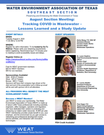WEAT 2020 – August Section Meeting